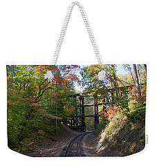 Hiawassee Loop Railroad Trestle Weekender Tote Bag by John Black