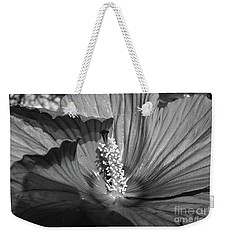 Hibiscus Black And White Weekender Tote Bag