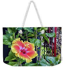 Hibiscus Bloom By The Red Trellis Weekender Tote Bag