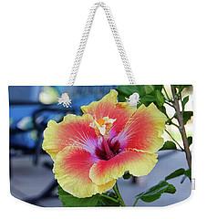 Hibiscus Bloom On The Patio Weekender Tote Bag