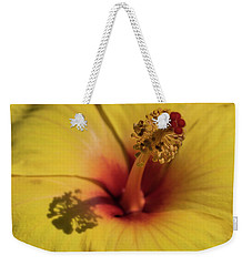 Weekender Tote Bag featuring the photograph Hibiscus by Cathy Donohoue