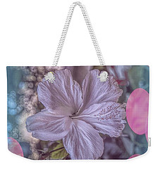 Weekender Tote Bag featuring the photograph Hibiscus by Elaine Teague