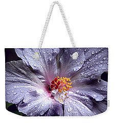 Hibiscus In The Rain Weekender Tote Bag