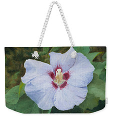 Weekender Tote Bag featuring the painting Hibiscus by Joshua Martin