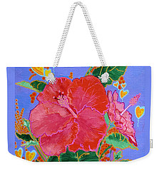 Hibiscus Motif Weekender Tote Bag