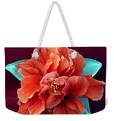 Hibiscus On Glass Weekender Tote Bag