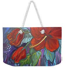 Hibiscus Whimsy Weekender Tote Bag