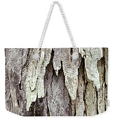 Weekender Tote Bag featuring the photograph Hickory Tree Bark Abstract by Christina Rollo