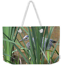 Hidden Blue Heron Weekender Tote Bag