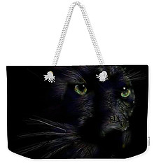 Weekender Tote Bag featuring the digital art Hidden Cat by Darren Cannell
