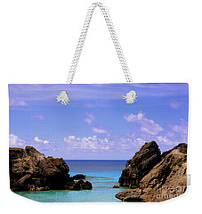 Hidden Cove In Bermuda Weekender Tote Bag