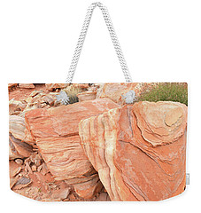 Weekender Tote Bag featuring the photograph Hidden Cove In Valley Of Fire by Ray Mathis