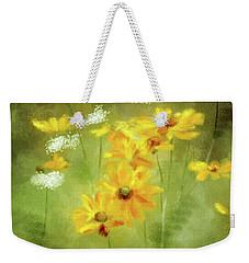 Weekender Tote Bag featuring the digital art Hidden Gems by Lois Bryan