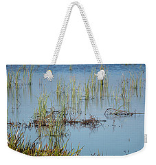 Hidden In The Grass The Wood Sandpiper  Weekender Tote Bag