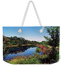 Weekender Tote Bag featuring the photograph Hidden Lake by Gary Wonning