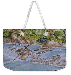 Weekender Tote Bag featuring the painting Hidden Little Creek by Kelly Mills