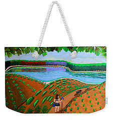 Hidden Water From Above Weekender Tote Bag by Lorna Maza
