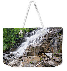 Weekender Tote Bag featuring the photograph Hidden Waterfalls by Margaret Pitcher
