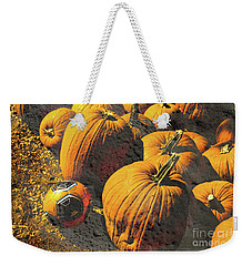 Hiding In Plain Pumpkin Weekender Tote Bag by Deborah Nakano