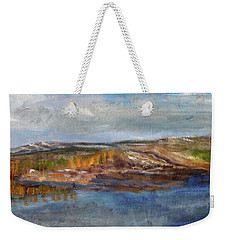 Weekender Tote Bag featuring the painting Tranquility by Michael Helfen