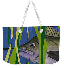 Weekender Tote Bag featuring the mixed media Hiding Spot by Andrew Drozdowicz