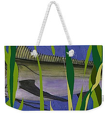 Weekender Tote Bag featuring the mixed media Hiding Spot2 by Andrew Drozdowicz