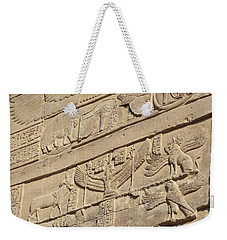 Weekender Tote Bag featuring the photograph Hieroglyphic by Silvia Bruno