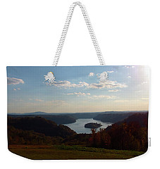 Weekender Tote Bag featuring the photograph High Above Dale Hollow by Nick Kirby