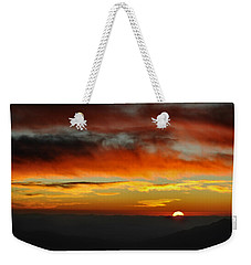 Weekender Tote Bag featuring the photograph High Altitude Fiery Sunset by Joe Bonita