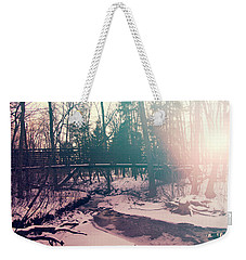 Weekender Tote Bag featuring the photograph High Cliff Bridge by Joel Witmeyer