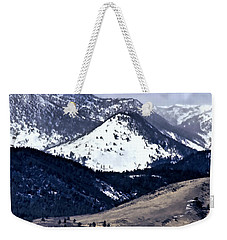 Weekender Tote Bag featuring the photograph High Country Snow Storm by Nancy Marie Ricketts