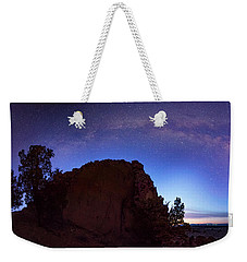 Weekender Tote Bag featuring the photograph High Desert Dawn by Leland D Howard