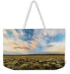 Weekender Tote Bag featuring the photograph High Desert Morning by Ryan Manuel