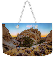 Weekender Tote Bag featuring the photograph High Desert Pose by T Brian Jones