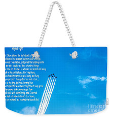 High Flight Weekender Tote Bag