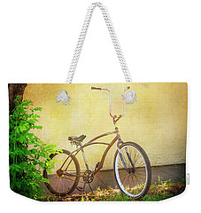 Weekender Tote Bag featuring the photograph High Handle-bar Bicycle by Craig J Satterlee