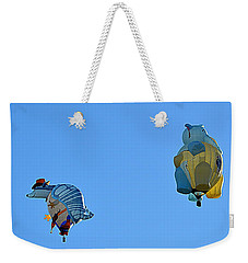 Weekender Tote Bag featuring the photograph High Jinx by AJ Schibig
