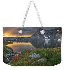 High Mountain Morning In Idaho Weekender Tote Bag by Leland D Howard