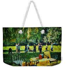 High Tea Tai Chi Weekender Tote Bag