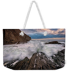 Weekender Tote Bag featuring the photograph High Tide At Bald Head Cliff by Rick Berk