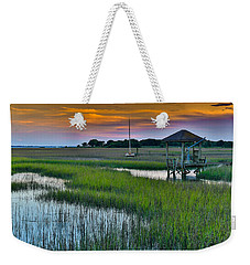 High Tide On The Creek - Mt. Pleasant Sc Weekender Tote Bag