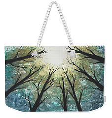 Weekender Tote Bag featuring the painting High Trees by Edwin Alverio