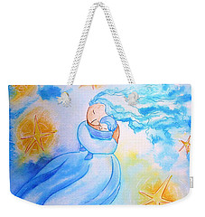 Weekender Tote Bag featuring the painting Higher Then The Stars by Gioia Albano