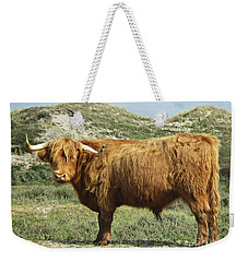Highland Bull In The Noordhollandse Duinreservaat Weekender Tote Bag