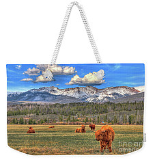 Highland Colorado Weekender Tote Bag by Scott Mahon