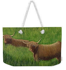 Highland Cows Weekender Tote Bag