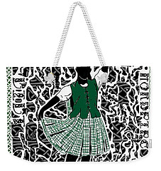 Weekender Tote Bag featuring the digital art Highland Dancing by Darren Cannell