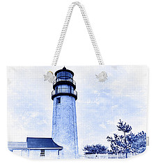 Highland Lighthouse Cape Cod Blue Weekender Tote Bag by Marianne Campolongo