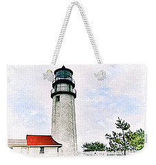 Weekender Tote Bag featuring the photograph Highland Lighthouse Cape Cod by Marianne Campolongo