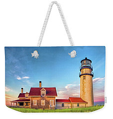 Weekender Tote Bag featuring the painting Highland Lighthouse by Christopher Arndt